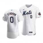 Men's New York Mets #0 Marcus Stroman Nike White Home 2020 Authentic Player MLB Jersey