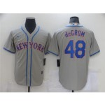 New York Mets #48 Jacob deGrom Gray Cool Base Jersey