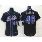 New York Mets #48 Jacob deGrom Black Flex Base Jersey