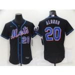 New York Mets #20 Pete Alonso Black Flex Base Jersey
