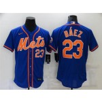 New York Mets #23 Javier Baez Royal-Orange Flex Base Jersey