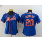 Women New York Mets #20 Pete Alonso Blue 2020 Nike Cool Base Jersey