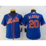 Youth New York Mets #20 Pete Alonso Blue 2020 Nike Cool Base Jersey