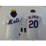 Youth New York Mets #20 Pete Alonso White 2020 Nike Cool Base Jersey