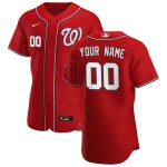 Men's Washington Nationals Custom Nike Red Alternate 2020 Authentic Flexbase MLB Jersey(Name and number remark in comment column)
