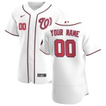 Men's Washington Nationals Custom Nike White Home 2020 Authentic Flexbase MLB Jersey(Name and number remark in comment column)
