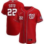 Men's Washington Nationals #22 Juan Soto Nike Red Alternate 2020 Authentic Player MLB Jersey