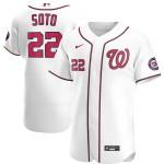 Men's Washington Nationals #22 Juan Soto Nike White Home 2020 Authentic Player MLB Jersey