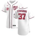 Men's Washington Nationals #37 Stephen Strasburg Nike White Home 2020 Authentic Player MLB Jersey