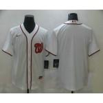 Men's Washington Nationals Blank White Stitched MLB Cool Base Nike Jersey