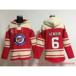 MLB Washington Nationals #6 Anthony Rendon Red All Stitched Hooded Sweatshirt