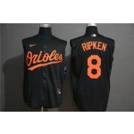 MLB Baltimore Orioles #8 Cal Ripken Jr. Black Nike Cool Base Sleeveless Jersey