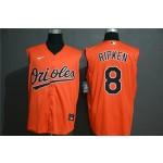 MLB Baltimore Orioles #8 Cal Ripken Jr. Orange Nike Cool Base Sleeveless Jersey