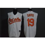 MLB Baltimore Orioles #19 Chris Davis Orange Nike Cool Base Sleeveless Jersey