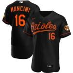 Men's Baltimore Orioles #16 Trey Mancini Nike Black Alternate 2020 Authentic Player MLB Jersey