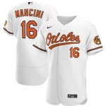 Men's Baltimore Orioles #16 Trey Mancini Nike White Home 2020 Authentic Player MLB Jersey