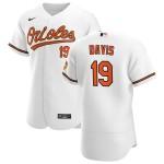 Men's Baltimore Orioles #19 Chris Davis Nike White Home 2020 Authentic Player MLB Jersey