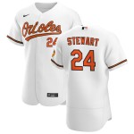 Men's Baltimore Orioles #24 DJ Stewart Nike White Home 2020 Authentic Player MLB Jersey
