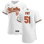 Men's Baltimore Orioles #51 Paul Fry Nike White Home 2020 Authentic Player MLB Jersey
