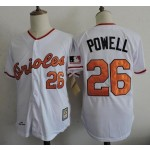 Men's Throwback Baltimore Orioles #26 Jack Powell White Jersey
