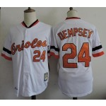 Men's Throwback Baltimore Orioles #24 Rick Dempsey White Jersey