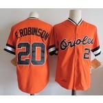 Men's Throwback Baltimore Orioles #20 Frank Robinson Orange Jersey