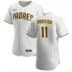 San Diego Padres #11 Yu Darvish White Home Flexbase Jersey