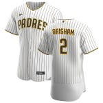 Men's San Diego Padres #2 Trent Grisham Nike White Brown Home 2020 Authentic Player Jersey