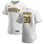 Men's San Diego Padres #30 Eric Hosmer Nike White Brown Home 2020 Authentic Player Jersey