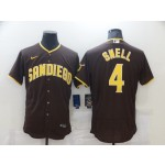 Men's San Diego Padres #4 SNELL Brown stitched Flexbase MLB Jersey