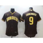 Men's San Diego Padres #9 CRONENWORTH Brown Tan Authentic Alternate Player Jersey