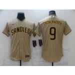 Men's San Diego Padres #9 CRONENWORTH Sand Brown Authentic Alternate Flexbase MLB Jersey