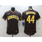 Men's San Diego Padres #44 Musgrove Brown Tan Authentic Alternate Player Jersey