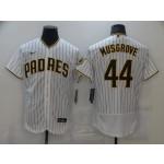 Men's San Diego Padres #44 Musgrove White Home Flexbase Jersey