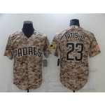 San Diego Padres #23 Fernando Tatis Jr. Camo Cool Base Jersey