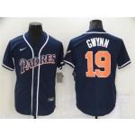 San Diego Padres #19 Tony Gwynn Vintage Navy Jersey