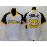 San Diego Padres #23 Fernando Tatis Jr. White Cooperstown Collection Cool Base Jersey