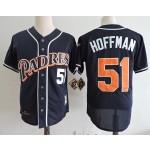 Men's Throwback San Diego Padres #51 Trevor Hoffman Navy 1998 Mitchell & Ness Jersey