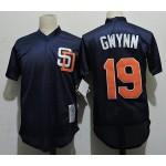 Men's Throwback San Diego Padres #19 Tony Gwynn Navy Mitchell & Ness Mesh Jersey