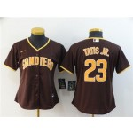 Women San Diego Padres #23 Fernando Tatis Jr. Brown 2020 Nike Cool Base Jersey