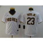 Youth San Diego Padres #23 Fernando Tatis Jr. White 2020 Nike Cool Base Jersey