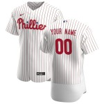 Men's Philadelphia Phillies Custom Nike White Home 2020 Authentic Flexbase MLB Jersey(Name and number remark in comment column)