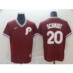 MLB Philadelphia Phillies #20 Mike Schmidt Red Nike Throwback Jersey