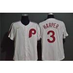 MLB Philadelphia Phillies #3 Bryce Harper White 2020 Nike Throwback Cool Base Jersey