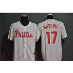 MLB Philadelphia Phillies #17 Rhys Hoskins White 2020 Nike Cool Base Jersey