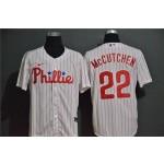 MLB Philadelphia Phillies #22 Andrew McCutchen White 2020 Nike Cool Base Jersey