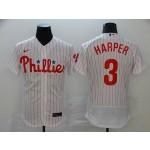 MLB Philadelphia Phillies #3 Bryce Harper White 2020 Nike Flexbase Jersey