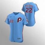 Men's Philadelphia Phillies #22 Andrew McCutchen Nike Light Blue Alternate 2020 Authentic Player MLB Jersey
