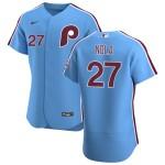 Men's Philadelphia Phillies #27 Aaron Nola Nike Light Blue Alternate 2020 Authentic Player MLB Jersey