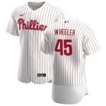 Men's Philadelphia Phillies #45 Zack Wheeler Nike White Home 2020 Authentic Player MLB Jersey